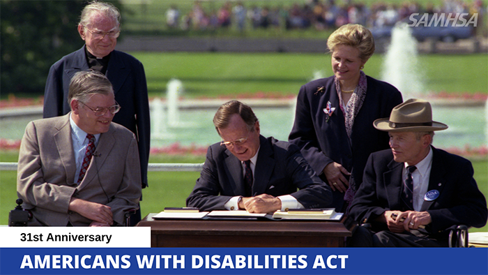 President Bush signs the American with Disabilities Act
